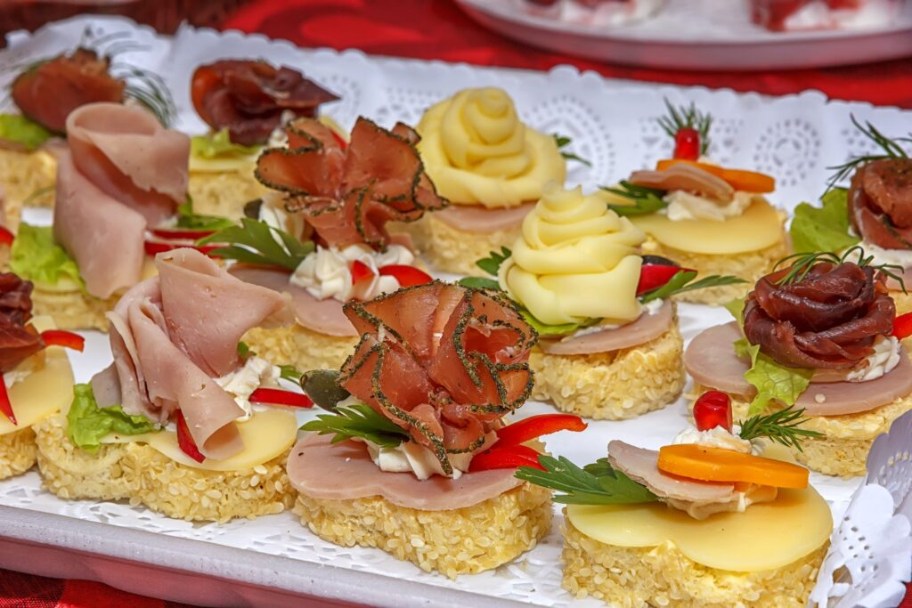 Catering food party.